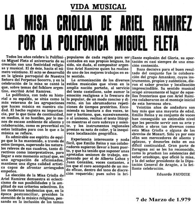 Misa Criolla Polifónica Miguel Fleta